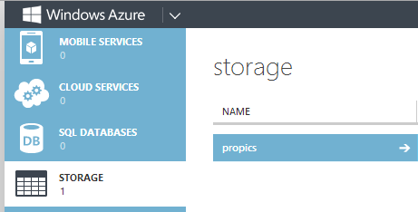 Azure storage container to save snaps