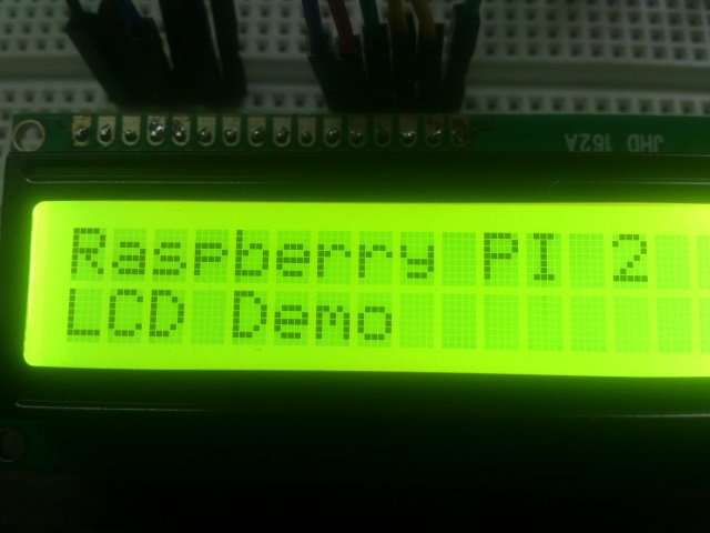 LCD display text