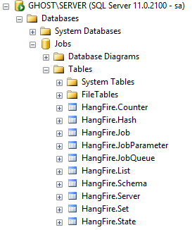 SQL Server DB for HangFire