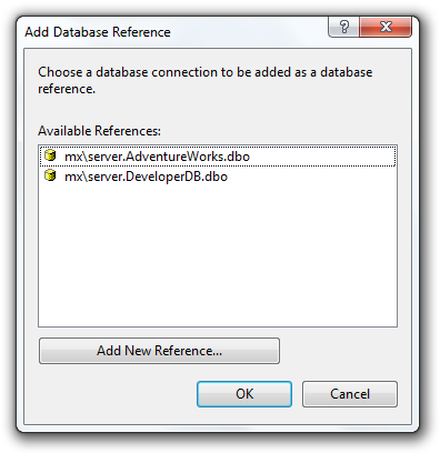 Add a database reference to the project