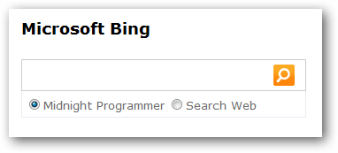 Web helpers normal bing search